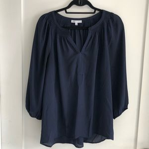 Navy blue blouse by D2. Barley worn